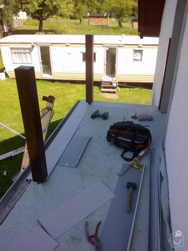 Oplechování balkónu,včetně okapu,cca 4-5m2: 04012011267