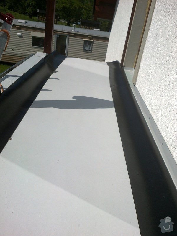 Oplechování balkónu,včetně okapu,cca 4-5m2: 04012011270