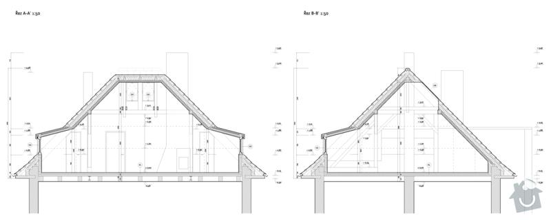 Úprava krovu, 3 nové vikýře, 2 střešní okna: F_rezy_50_4A4