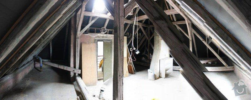 Úprava krovu, 3 nové vikýře, 2 střešní okna: panom