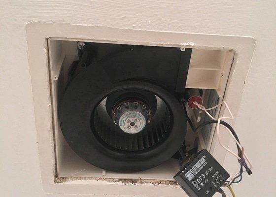 Porucha ventilátoru na wc