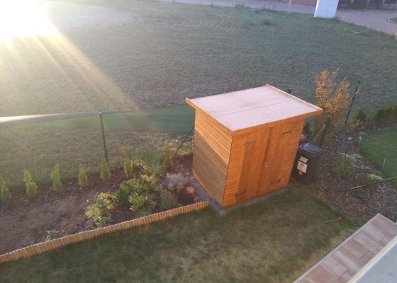 Plechová střecha na 2 zahradní domky