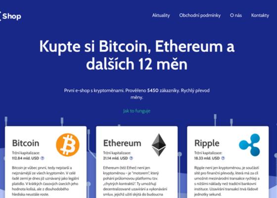 CcShop.cz - e-shop s kryptoměnami