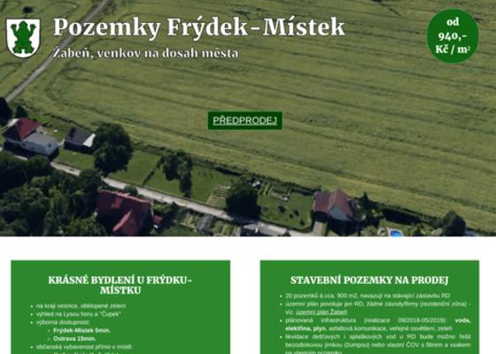 Web Pozemky Frýdek-Místek