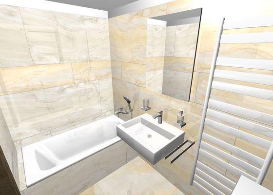 Obložení koupelny a záchoda velkoformátovými obklady 120x60