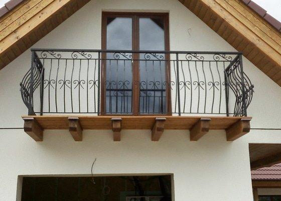 Kované balkonové zábradlí