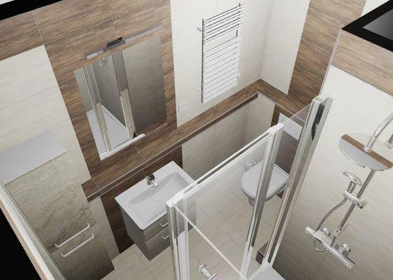 Kompletní přestavba bytového jádra, 3D návrh