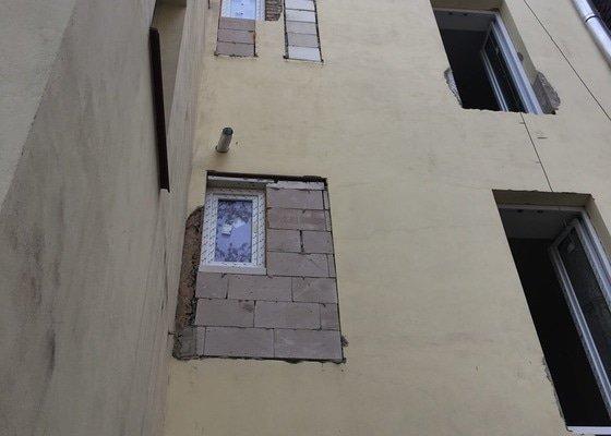 Dodělání fasády z lana