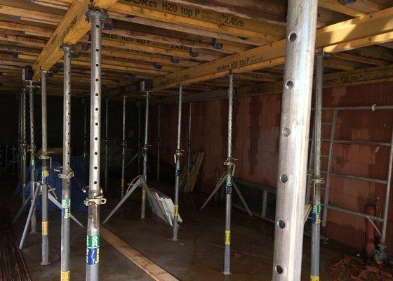 Monolitické stropy RD 3 podlaží