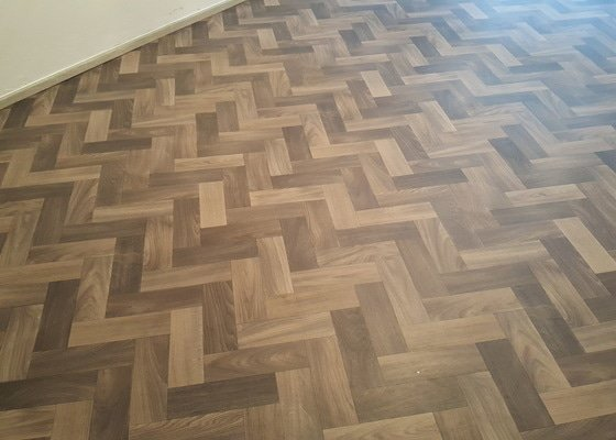 Realizace podlahy (vyrovnání, pokládka), v bytě.Vinyl nebo lino.Cca 30m2, pokoj 20m2 a chodba