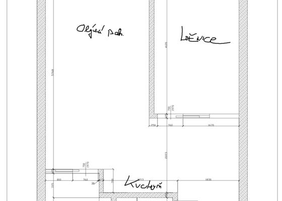 Elektroinstalace bytu (2+kk, 41m2) v panelovém domě (Praha - Stodůlky)