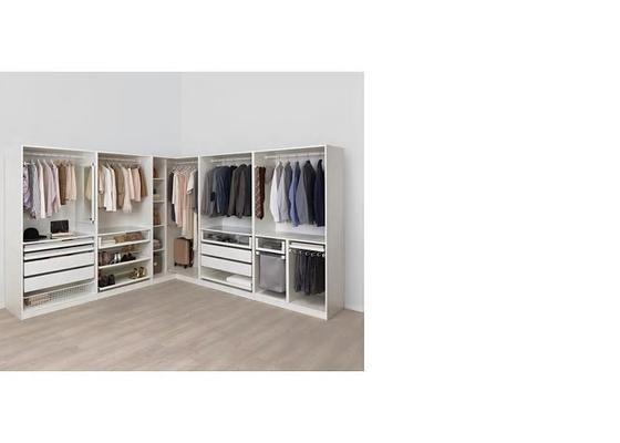 3x šatní skřín bez dveří - realizace v novém ŘRD, Jihlava
