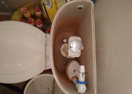 Oprava protékajícího WC, výměna splachovadla