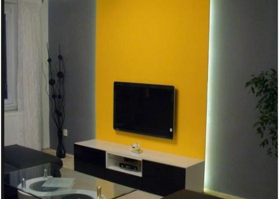 Sádrokartonový výstupek v obývacím pokoji