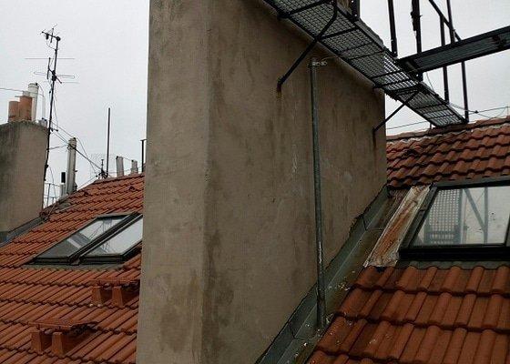 Menší oprava střechy a dvou komínů