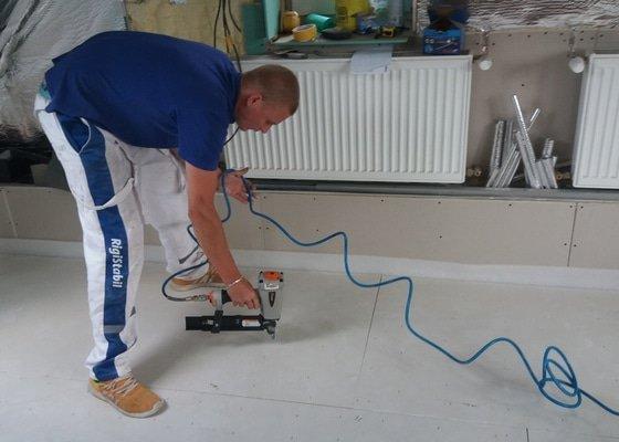 Instalace podlah v rodinném domě Vesec Liberec