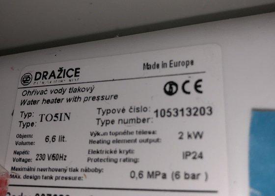 Výměna pojistného ventilu - bojler