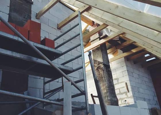 Rekonstrukce podkroví rodinného domu, včetně nové střechy