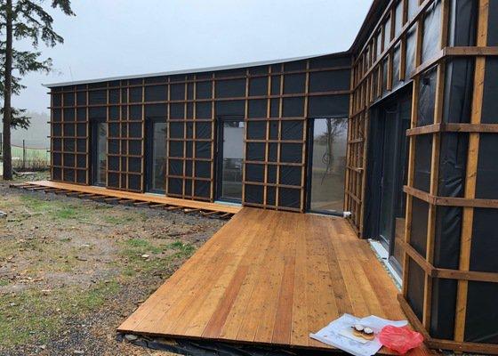 Dřevěné obložení eco domu