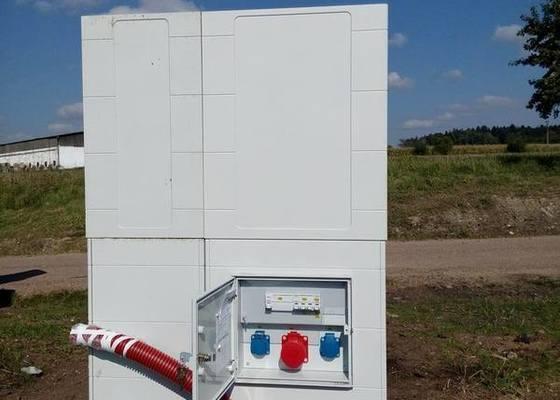 Zapojení nového elektroměrového rozvaděče v obci Těškov. okr. Rokycany