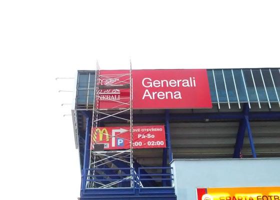 Branding stadionu a práce pro fotbal