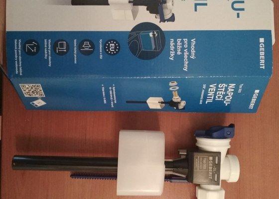 Výměna napouštěcího ventilu/plováku u záchodu, geberit
