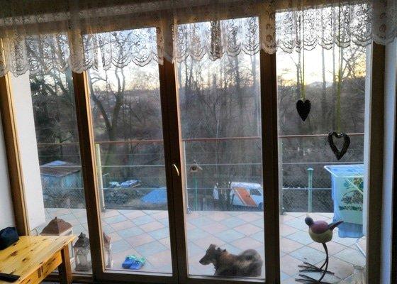 Přesklení francouzského 4 dílného okna
