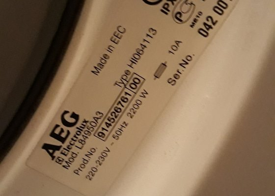 Oprava pračky AEG mod. L84950A3