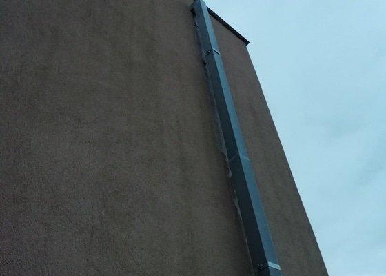 Oprava svodu dešťových srážek - klempířské práce