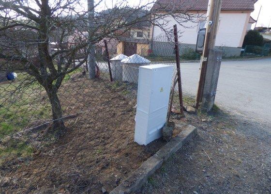 Přípojka elektřiny k budoucímu domu