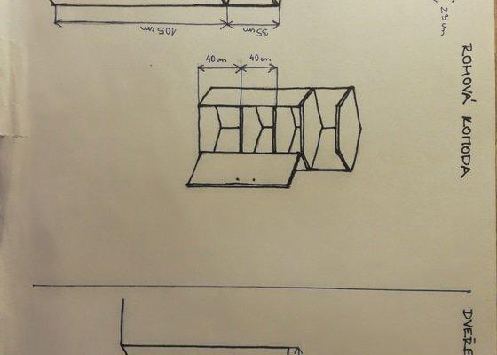 Borovicová komoda a kuchyŇská skříň z lamina