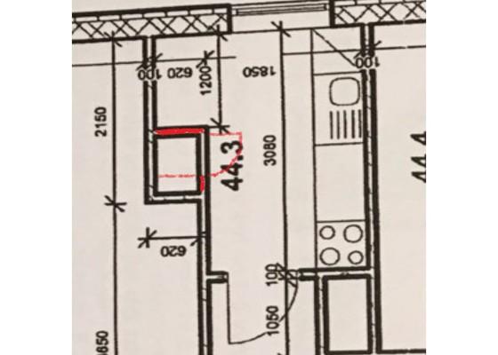 Vybourání spíže v panelovém domě