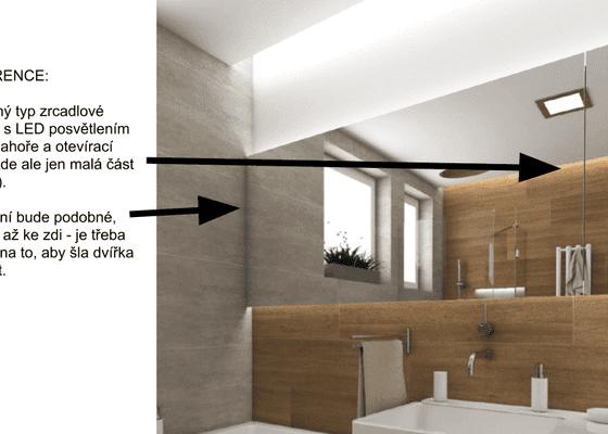 Koupelnová skříňka s LED osvětlením