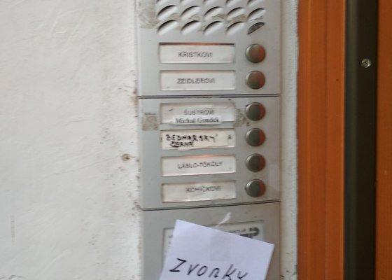 Oprava domovního zvonku - nájemní dům