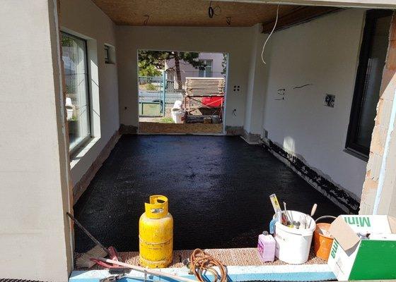 Vybetonovani podlahy v garáži-30m2