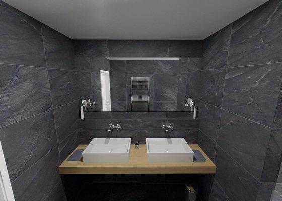 Vsazená zrcadla v koupelně + světlo