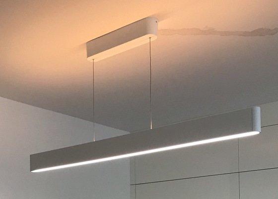 Osvětlení - posun rozvodu a instalace lustru