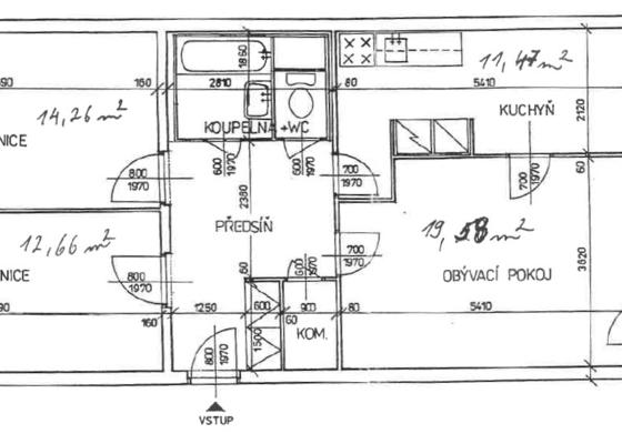Rekonstrukce koupelny a kuchyně v panelovém domě v Praze