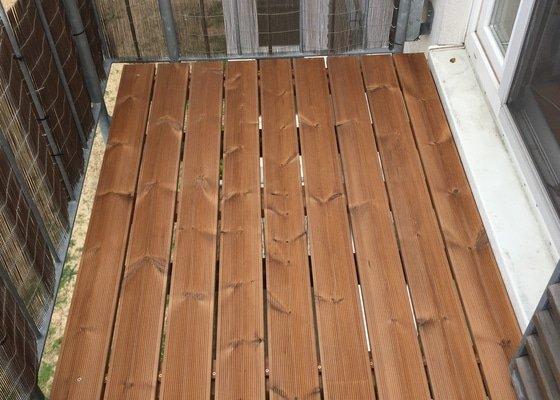 Pokládka - výměna roštu balkonu