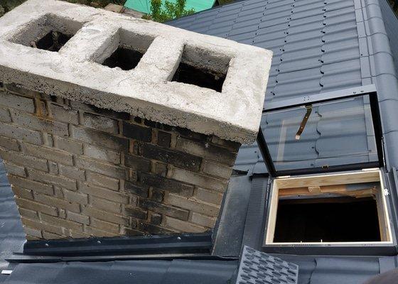 Rekonstrukce sedlové střechy chaty 110m2