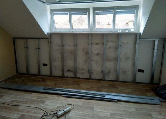 Zateplení stropu + 1 stěna s okny