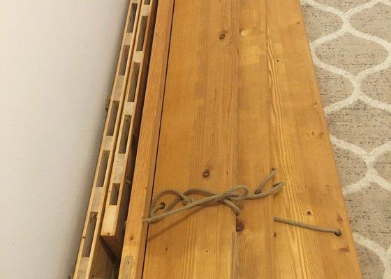 Přidělání žebřin a polic do cihlové zdi skrz sádrokarton