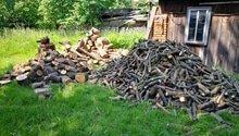 Řezání/štípání dřeva