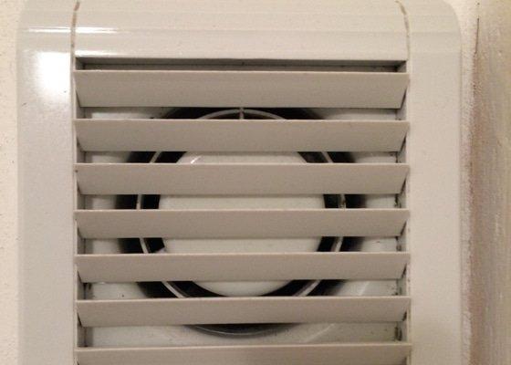 Oprava ventilátoru s časovým spínačem na WC a v koupelně