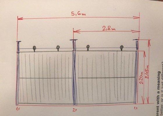 Posuvná mříž s oplocením