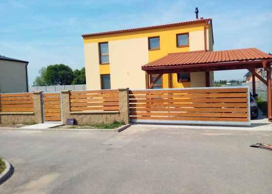Stavba plotu vč. samonosné pojezdové brány