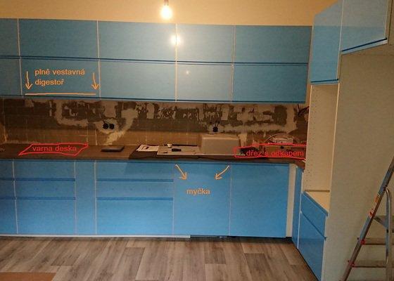 Instalace spotřebičů do sestavené kuchyňské linky