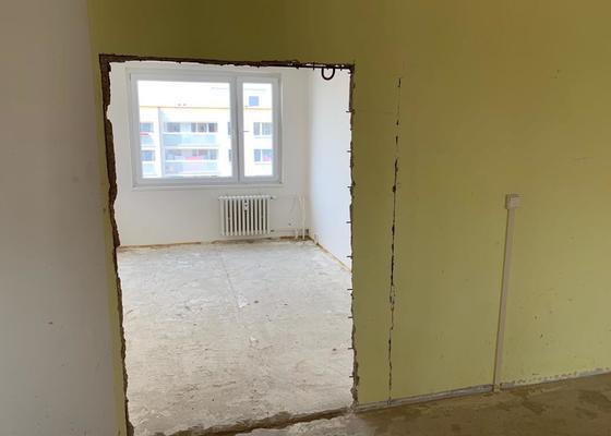 Bourací práce/ odstranění byt jádra 3+1 79m2 panel