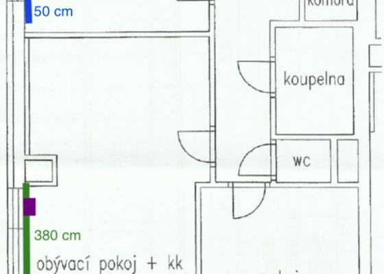 Příprava rozvodů elektřiny pro venkovní žaluzie do bytu 3kk