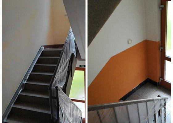 Vymalování chodeb a sklepů v bytovém domě o 3 vchodech a 3 patrech